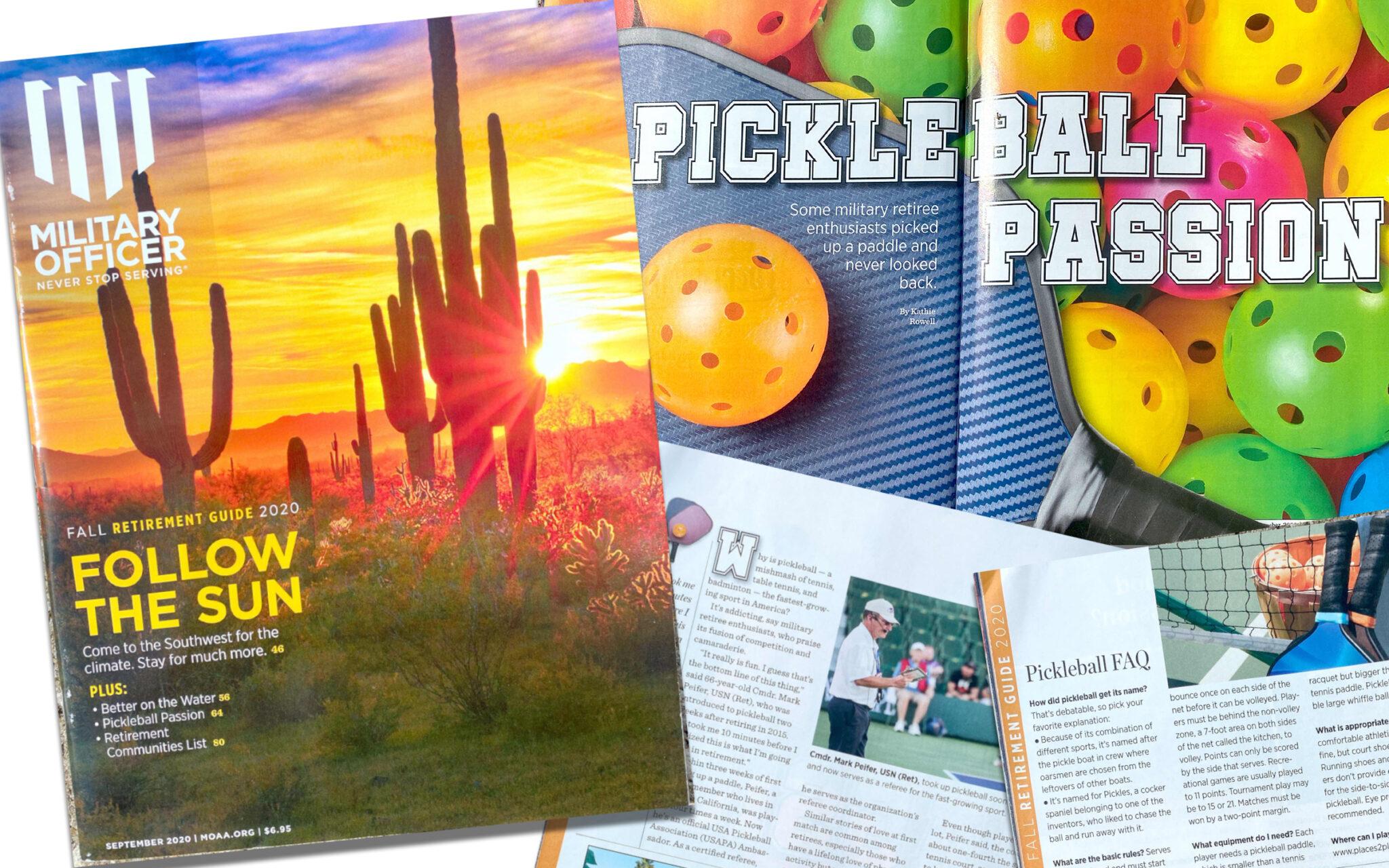 MOAA Magazine USA Pickleball feature