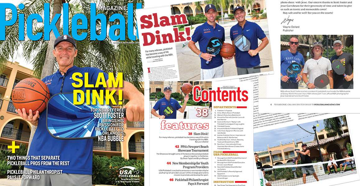 USA Pickleball NBA Bubble Magazine