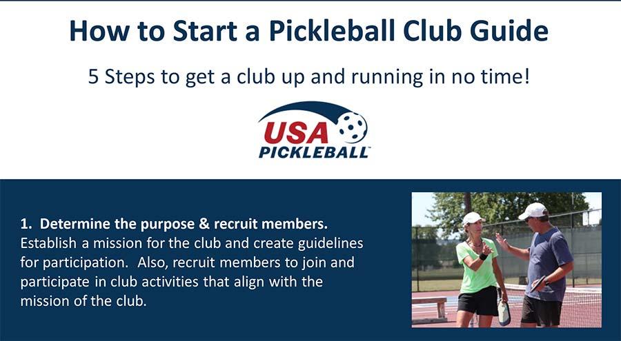 How to Start A Pickleball Club